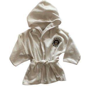 🆕 Little Monkey Cream Baby Hooded Bath Robe